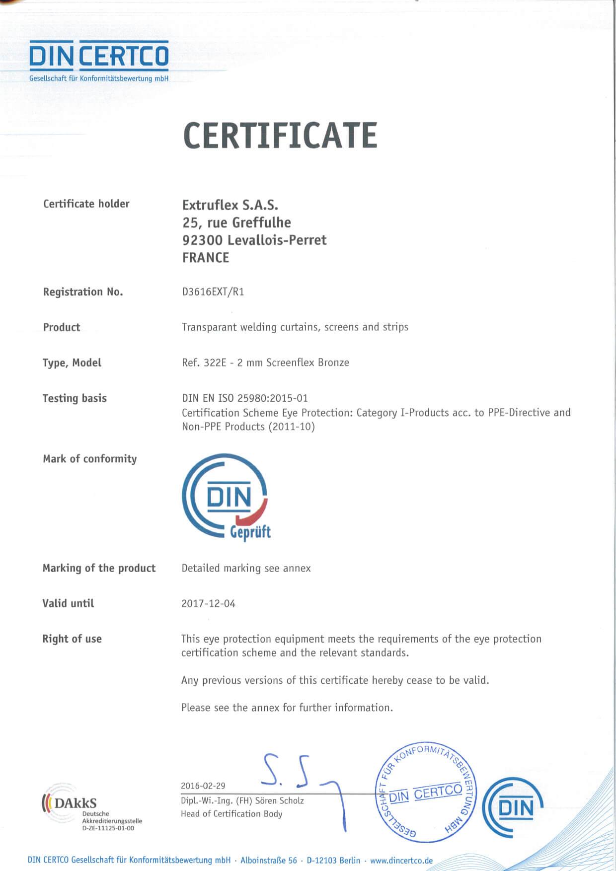PVC KAYNAK PERDESİ EN 1598 VE ISO 25980